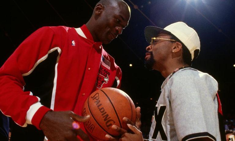 Michael Jordan et Spike Lee, aka Mars Blackmon