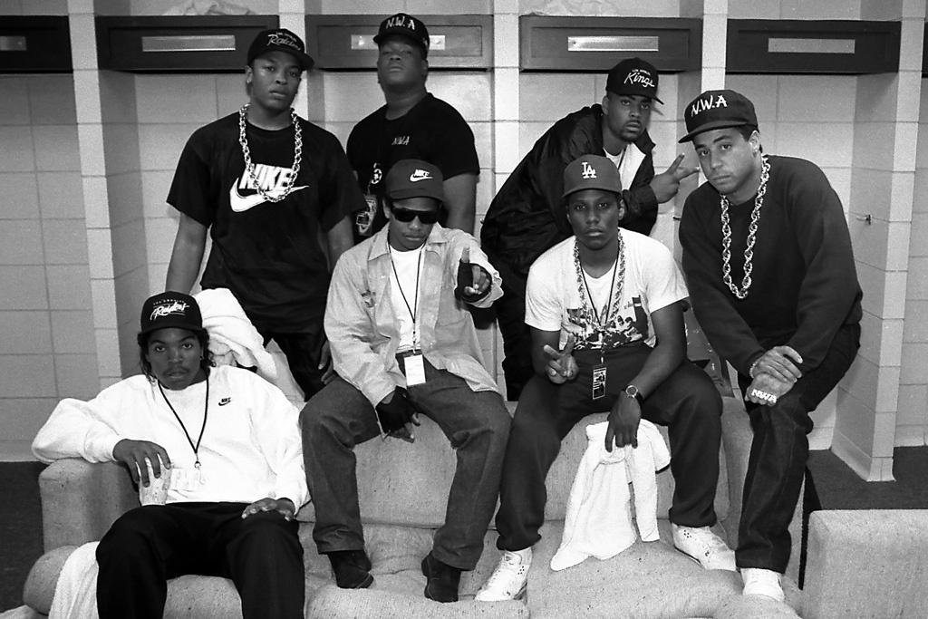 Les rappeurs du groupe N.W.A
